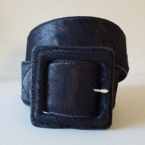 Banana Republic Blue Animal Fur & Leather Belt